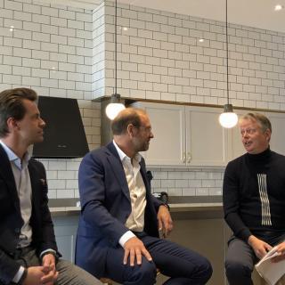 Anders Boqvist, Claes Jerveland och moderator Mikael Selin.