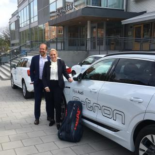 Claes Jerveland och Madeleine Kjessler från Volkswagen Group Sverige.