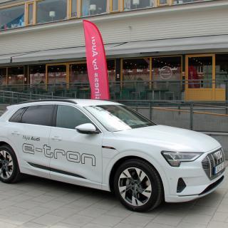 Audisförsta elbil, nya Audi e-tron.