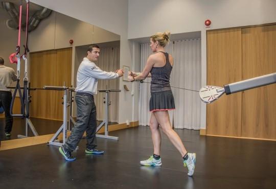 SALK Gym tennisfysträning Vicente och Christina